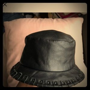 Rare Authentic Lambskin Burberry bucket hat